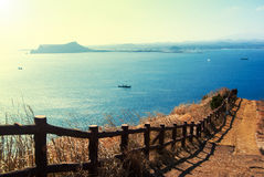 Paisaje de la isla de Udo en la isla de Jeju, Corea del Sur Imagen de archivo