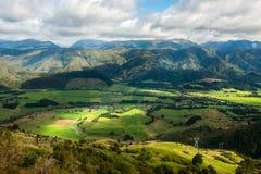 Paisaje de la isla del sur, Nueva Zelanda Foto de archivo libre de regalías