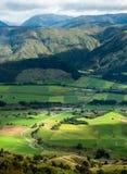 Paisaje de la isla del sur, Nueva Zelanda Foto de archivo