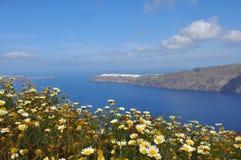 Paisaje de la isla griega Santorini Fotos de archivo libres de regalías