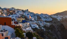 Paisaje de la isla hermosa de Santorini foto de archivo libre de regalías