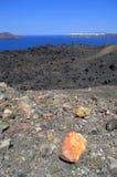 Paisaje de la isla volcánica Nea Kameni Foto de archivo