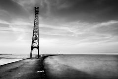 Paisaje de la línea de flotación de Chicago, blanco y negro Fotografía de archivo libre de regalías