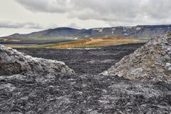 Paisaje de la lava Imagen de archivo