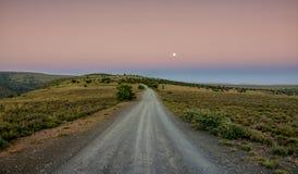 Paisaje de la Luna Llena Foto de archivo libre de regalías