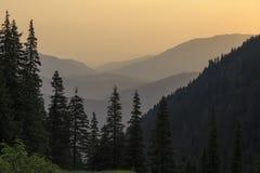 Paisaje de la mañana de la montaña del verano imágenes de archivo libres de regalías
