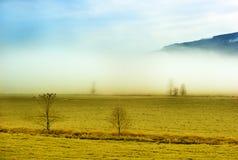 Paisaje de la mañana del campo del país Fotografía de archivo libre de regalías