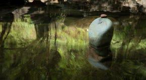 Paisaje de la meditación del zen Ambiente tranquilo y espiritual de la naturaleza Foto de archivo libre de regalías