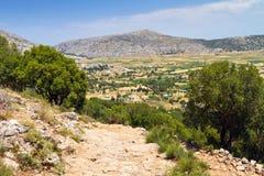 Paisaje de la meseta de Lasithi en Creta Imágenes de archivo libres de regalías