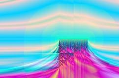 Paisaje de la meseta del fractal Fotos de archivo