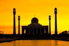 Paisaje de la mezquita de centro Songkhla por la tarde, Tailandia Fotos de archivo