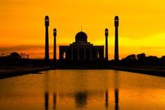 Paisaje de la mezquita de centro Songkhla por la tarde, Tailandia Foto de archivo libre de regalías