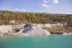 Paisaje de la mina de la turquesa en Volkovysk Bielorrusia Fotografía de archivo libre de regalías