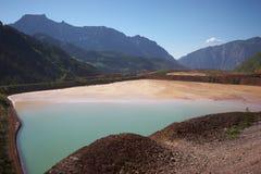 Paisaje de la mina del hierro de Erzberg Imagen de archivo libre de regalías