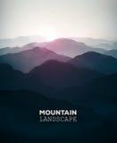 Paisaje de la montaña ilustración del vector