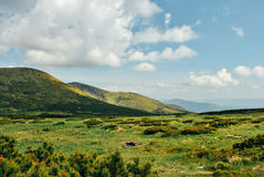 Paisaje de la montaña Imagen de archivo libre de regalías