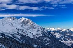 Paisaje de la montaña, Avoraz, Francia Fotografía de archivo