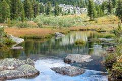 Paisaje de la montaña con el río Imagen de archivo libre de regalías