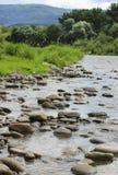 Paisaje de la montaña con el río fotos de archivo