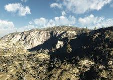 Paisaje de la montaña con los valles y las barrancas Fotografía de archivo libre de regalías