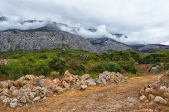 Paisaje de la montaña de Croacia foto de archivo libre de regalías