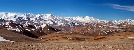 Paisaje de la montaña de Himalaya en la prefectura de Ngari, Tíbet Imagen de archivo libre de regalías
