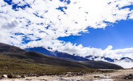 paisaje de la montaña de la mucha altitud Imagen de archivo