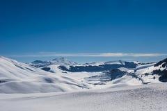 Paisaje de la montaña de la nieve Foto de archivo