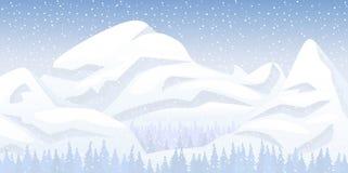 Paisaje de la montaña de la nieve Fotografía de archivo libre de regalías