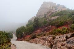 Paisaje de la montaña de Montserrat Fotografía de archivo