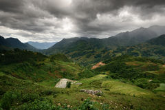 Paisaje de la montaña de Sapa Fotografía de archivo libre de regalías