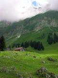 Paisaje de la montaña de Suiza fotos de archivo