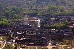 Paisaje de la montaña de Wutai Foto de archivo libre de regalías