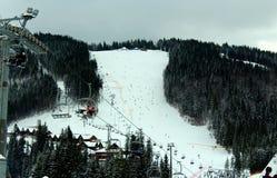 Paisaje de la montaña del invierno Fotografía de archivo
