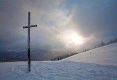 Paisaje de la montaña del invierno Foto de archivo