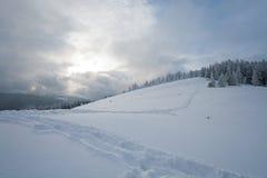 Paisaje de la montaña del invierno Imagen de archivo libre de regalías