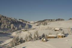 Paisaje de la montaña del invierno fotos de archivo