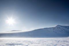Paisaje de la montaña del invierno Imágenes de archivo libres de regalías