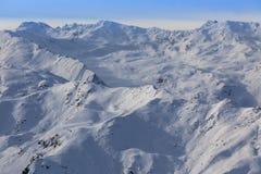 Paisaje de la montaña del invierno en Austria Imagenes de archivo