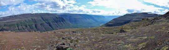 Paisaje de la montaña del panorama Imágenes de archivo libres de regalías