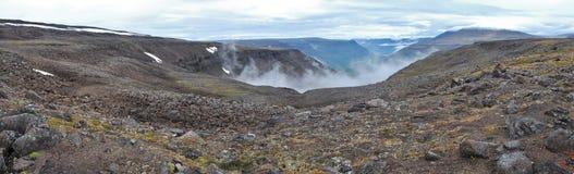 Paisaje de la montaña del panorama Fotos de archivo libres de regalías