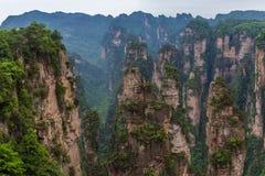 Paisaje de la montaña del parque nacional de Zhangjiajie Fotografía de archivo