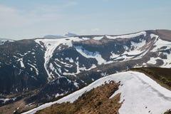Paisaje de la montaña del resorte Fotografía de archivo
