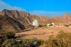 Paisaje de la montaña en Adén, Yemen Imagen de archivo