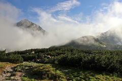 Paisaje de la montaña en alto Tatras después de la lluvia Imagenes de archivo