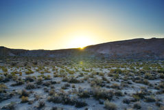 Paisaje de la montaña en el amanecer Imagen de archivo