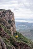 Paisaje de la montaña en el monasterio de Santa Maria de Montserrat S Imagenes de archivo