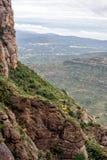 Paisaje de la montaña en el monasterio de Santa Maria de Montserrat S Imágenes de archivo libres de regalías