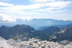 Paisaje de la montaña en Eslovenia imagen de archivo libre de regalías
