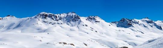 Paisaje de la montaña en Tignes, Francia Foto de archivo
